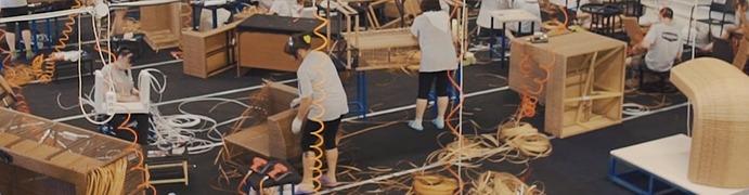Плетение мебели из искусственного экоротанга rammus