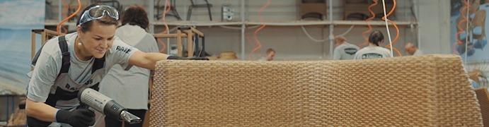 Плетение мебели из искусственного ротанга