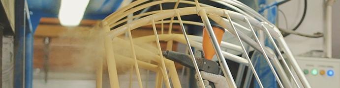 Сборка и покраска металлокаркаса для плетеной мебели RAMMUS