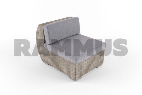 модульный диван майами из искусственного ротанга rammus