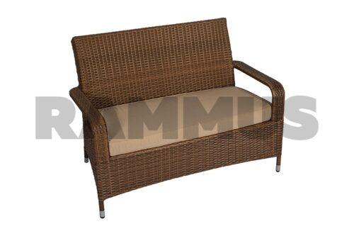 диван из искусственного экоротанга трех местный прованс rammus