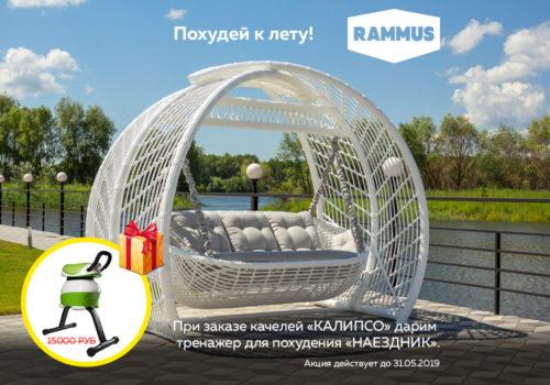 АКЦИЯ! тренажер для похудения за покупку садовых качелей КАЛИПСО фото