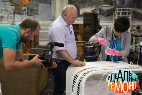 В гостях на фабрике из экоротанга rammus Наталья Барбье в рамках телепроекта Идеальный Ремонт
