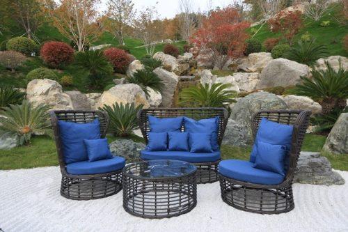 комплект садовой мебели ЭЛЕГРЕЙС диван, два кресла, столик журнальный фото
