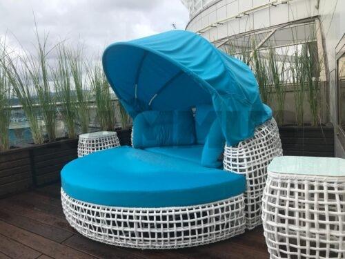 лежак САНТОРИНИ из искусственного ротанга фото