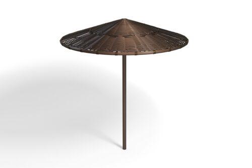 пляжный зонт из ротанга фото