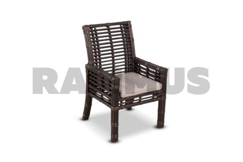 кресло из искусственного ротанга в бронзе фото