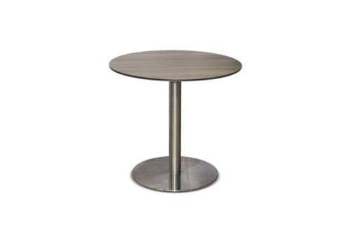 круглый обеденный стол с HPL панелью фото
