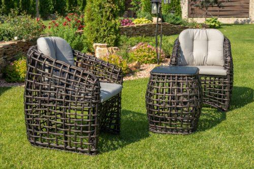 плетеная мебель для террасы фото